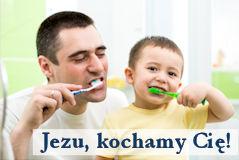Mycie zębów - Jezu kochamy Cię!